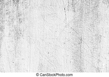 Old white scratched concrete wall