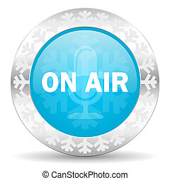 on air icon, christmas button