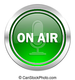 on air icon, green button