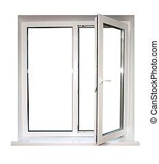 open plastic window