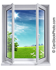 open window on the city