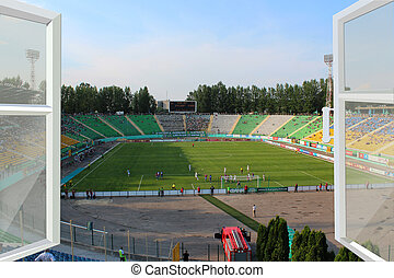 opened window to the stadium