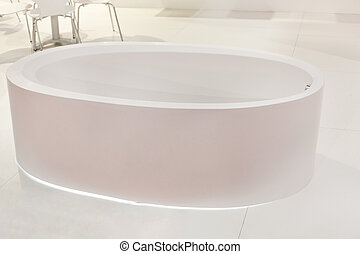Oval White Bathtub