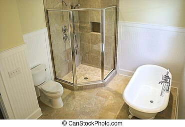 overhead view of bathroom