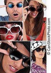 People wearing sunglasses