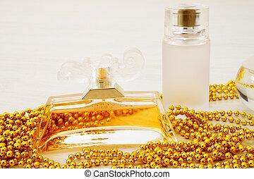 Perfume on a white background