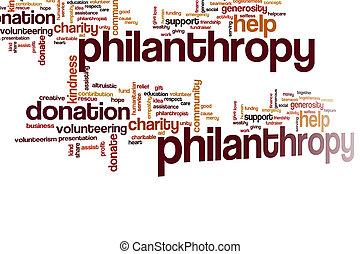 Philantropy word cloud