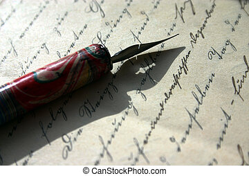 pinfeather and old writing