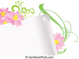 pink flower bsnner background vector image