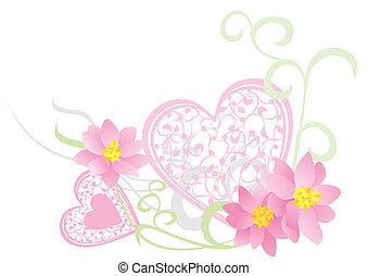 pink heart vector picture