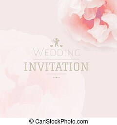 Pink Pastel Wedding Invitation