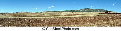 Plowed land in Turkey