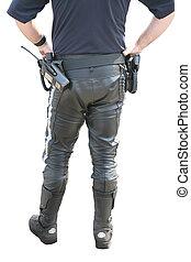 policeman in uniform for motobike