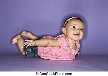 Portrait of female baby.