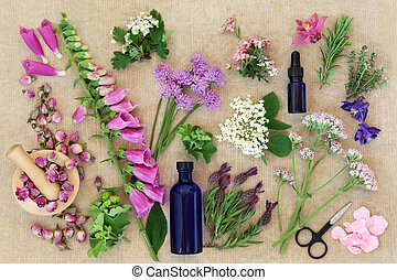 Preparing Medicinal Flowers and Herbs