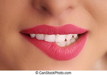 pretty sexy smile - detail of the lips