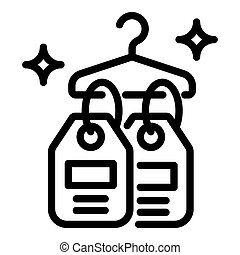 Price tag icon, outline style