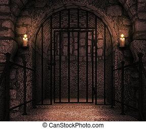 Prison Castle Backdrop