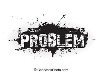 Problem grunge icon, rubber stamps