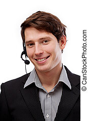 Professional young telemarketer