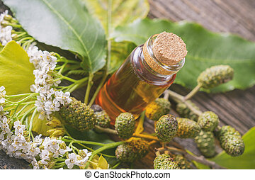 Pure herbal essential oil