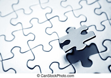 Final piece of jigsaw puzzle