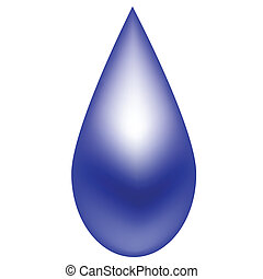 Shiny blue raindrop