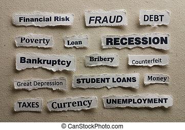 Concept of a recession.
