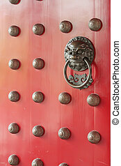 Red Chinese Traditional Door