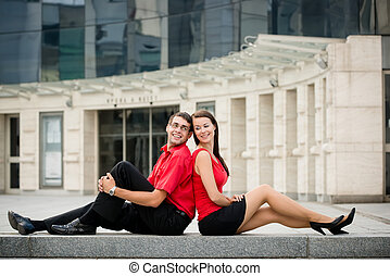 Relax - young couple together