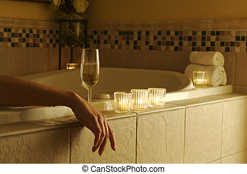 Relaxed Woman in Bath