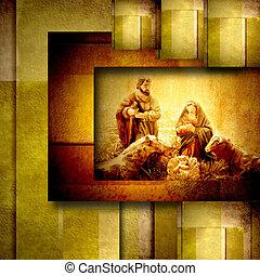 Religious Christmas Cards Nativiy Scene