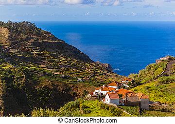 Ribeira da Janela in Madeira Portugal - travel background