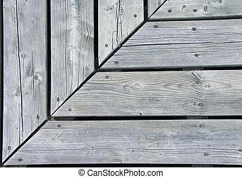 Right angle corner on a boardwalk at Mer Bleu Bog.