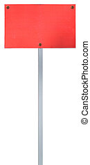 road sign, isolated on white