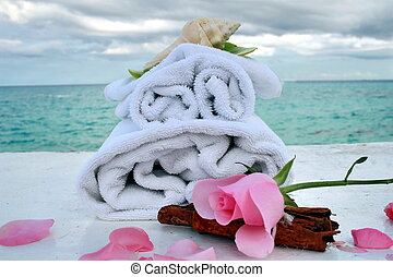 romantic spa with ocean
