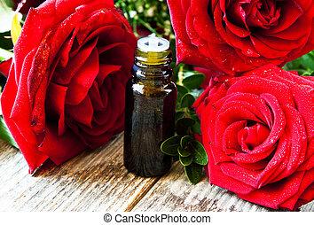 Roses Essential Oil Bottle