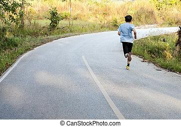 runner on the morning marathon