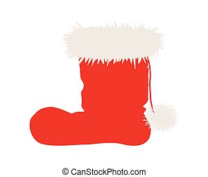 Santa Claus boots isolated on white