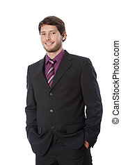 Satisfied young businessman