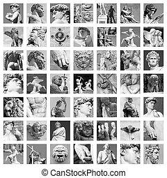 sculptures collage