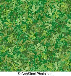 Seamless background, oak leaves