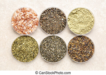 seaweeds and sea salt - diet supplements