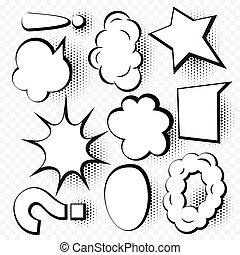 set of comic speech bubble in cartoon style