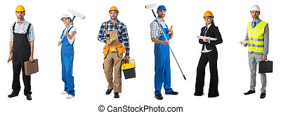 Set of professional workers people