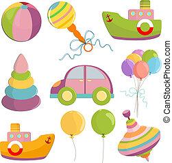 Set of toys illustration