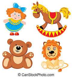 set of vector images. Children's toys