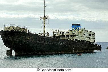 Ship wrack in Lanzarote n