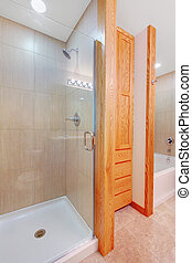 Shower and new bathroom