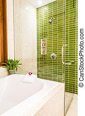 Shower box glass